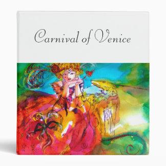 MIRANDOLINA ,Venetian Carnival Masks 3 Ring Binder