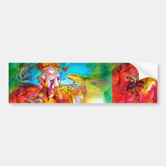 MIRANDOLINA / Venetian Carnival Masks Bumper Sticker