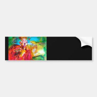 MIRANDOLINA  / Venetian Carnival Masks Car Bumper Sticker