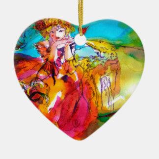 MIRANDOLINA  / Venetian Carnival Masks Christmas Ornament