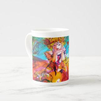 MIRANDOLINA  / Venetian Carnival Masks Tea Cup