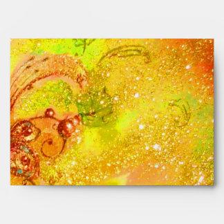 MIRANDOLINA yellow red brown green Envelope