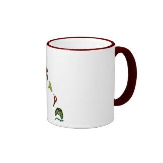 Mirapa Chili Peppers Ringer Coffee Mug