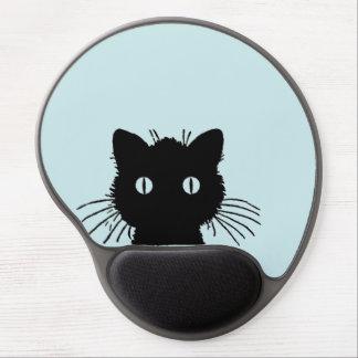 Mirar a escondidas el cojín de ratón del gato alfombrilla con gel