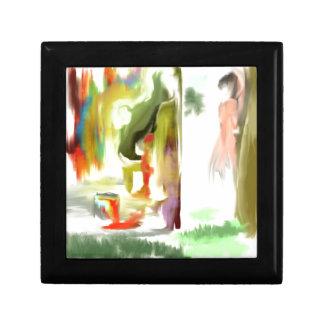 Mirar a escondidas el conejito de la pintada caja de recuerdo