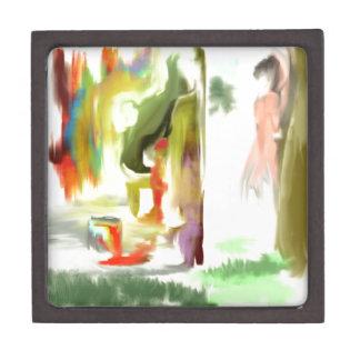 Mirar a escondidas el conejito de la pintada cajas de recuerdo de calidad