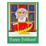 Mirar a escondidas la postal de Santa