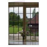Mirar hacia fuera la ventana de Jane Austen Chawto Tarjetas