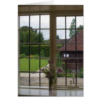 Mirar hacia fuera la ventana de Jane Austen Tarjeta Pequeña