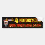 Mire 4 motocicletas pegatina de parachoque