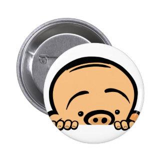 Mire a escondidas a un bebé del abucheo pin redondo de 2 pulgadas