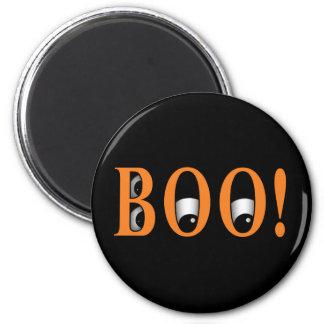 ¡Mire a escondidas un ABUCHEO! Ojos de Halloween Imán Redondo 5 Cm