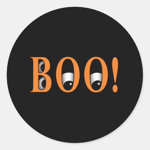 ¡Mire a escondidas un ABUCHEO! Ojos de Halloween Pegatinas