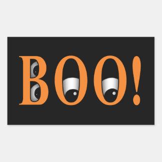 ¡Mire a escondidas un ABUCHEO! Ojos de Halloween Pegatina Rectangular