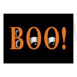 ¡Mire a escondidas un ABUCHEO! Ojos de Halloween Tarjetón