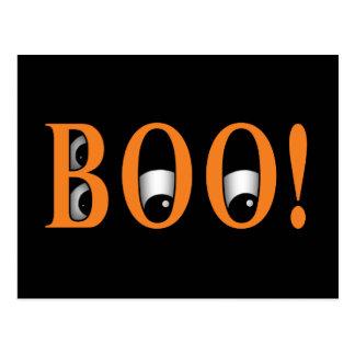 ¡Mire a escondidas un ABUCHEO! Ojos de Halloween Postal