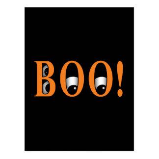 ¡Mire a escondidas un ABUCHEO! Ojos de Halloween Tarjeta Postal