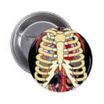 Mire a escondidas un abucheo Ribcage Pin Redondo 5 Cm