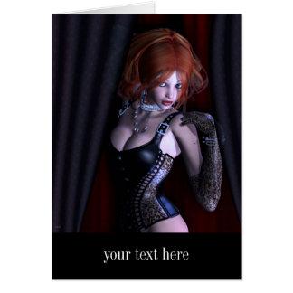 Mire a escondidas una fantasía gótica del abucheo tarjeta de felicitación