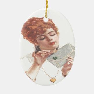 Mire adelante a su öffne de la Señora de Ornamentos De Navidad