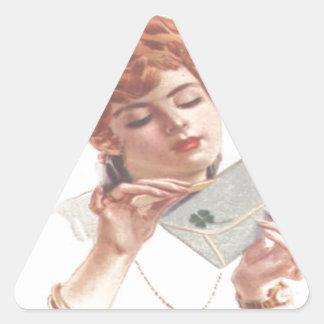 Mire adelante a su öffne de la Señora de Pegatina Triangular