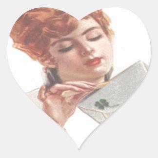 Mire adelante a su öffne de la Señora de Pegatina En Forma De Corazón