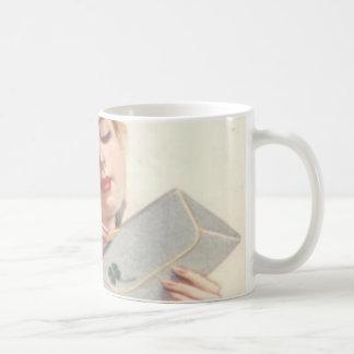 Mire adelante a su öffne de la Señora de Rothaarig Taza De Café