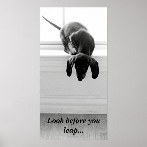 Mire antes de que usted salte… póster