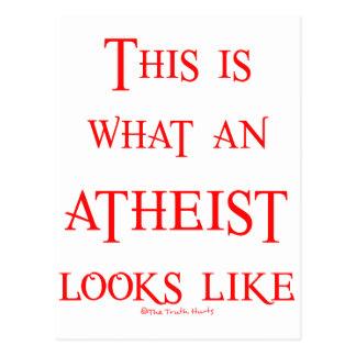 ¡Mire! ¡Ateo! Postal