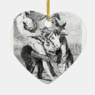 Mire cómo es solemne están por Francisco Goya Adorno De Cerámica En Forma De Corazón