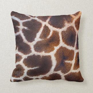 Mire de efecto de piel de la jirafa de África Cojín Decorativo