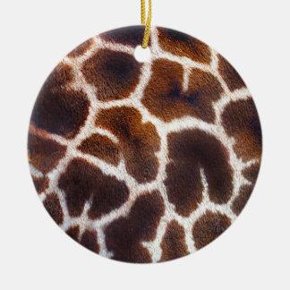 Mire de efecto de piel de la jirafa de África Adorno Redondo De Cerámica