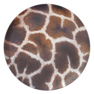 Mire de efecto de piel de la jirafa de África Platos