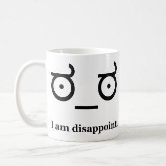 Mire de la desaprobación decepcionan taza de café
