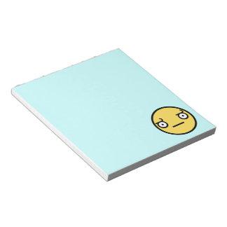 Mire de la libreta de la desaprobación bloc de papel