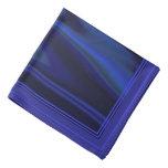 Mire de la tela de satén lisa del azul de cobalto bandanas