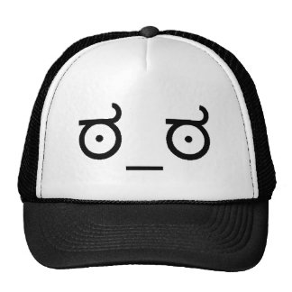 Mire del gorra del camionero de la desaprobación