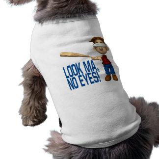 Mire el mA ningunos ojos Playera Sin Mangas Para Perro