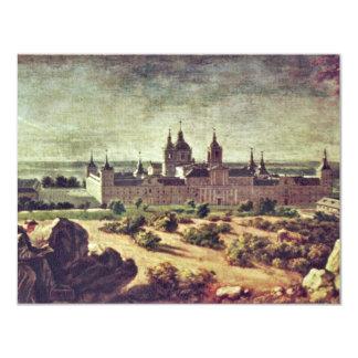 Mire el monasterio de Escorial de Houasse Invitación 10,8 X 13,9 Cm