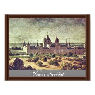 Mire el monasterio de Escorial de Houasse Miguel Invitación 10,8 X 13,9 Cm