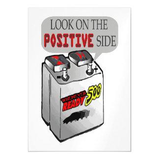 Mire en la batería lateral positiva del humor invitaciones magnéticas