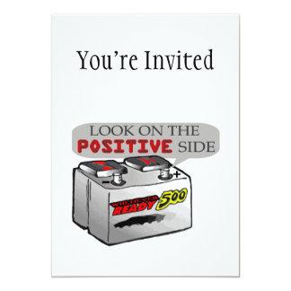 """Mire en lado positivo invitación 5"""" x 7"""""""