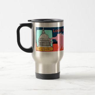 ¡Mire hacia fuera Washington! Taza De Viaje