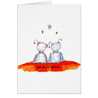 Mire hacia las estrellas tarjetas