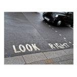 Mire la opinión correcta de la calle de Londres Tarjeta Postal