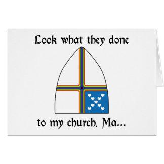 Mire lo que ellos hechos a mi iglesia, mA… Tarjeta De Felicitación