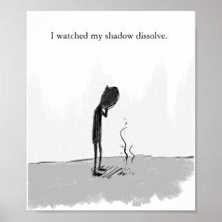 miré mi sombra disolver póster