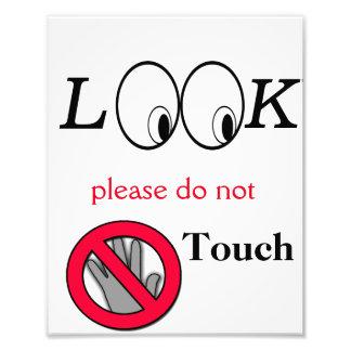 Mire no tocan el poster fotografías