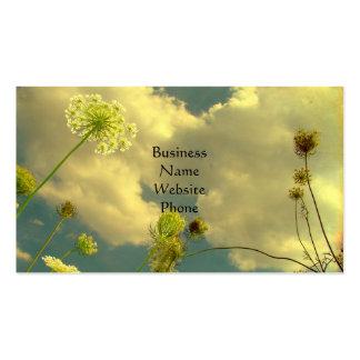 Mire para arriba a la naturaleza tarjetas de visita
