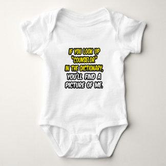 Mire para arriba al consejero en diccionario… mi mameluco de bebé